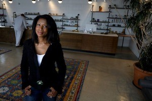 Botaniq, co-owned by Annette Sarfoh inside her medical marijuana dispensary in Detroit, Michigan on Thursday, June 20, 2019.