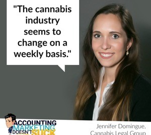 Cannabis Legal Group Associate Attorney Jennifer Domingue on Build Your Firm podcast