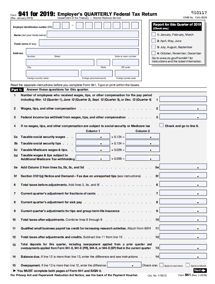 form 941 payroll tax due dates